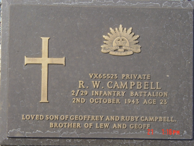 Pte R W Campbell